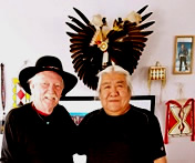 Phillip B Gottfredson with Kenny Frost of the Ute Mountain Ute Nation