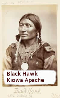 Kiowa Apache man named Black Hawk.
