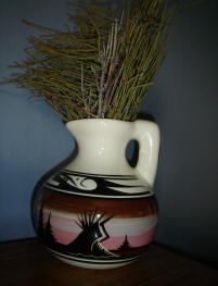 Dine' painted pitcher
