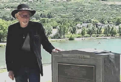 Author Phillip B Gottfredson at Black Hawk's Grave.